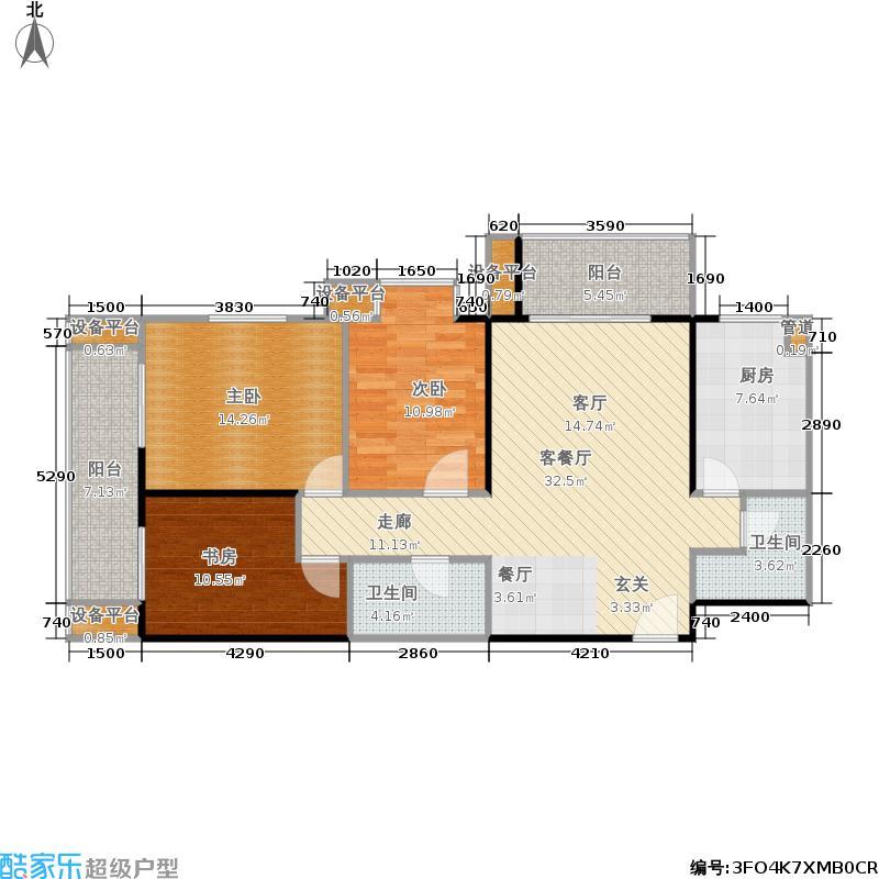 庆阳观邸121.18㎡户型