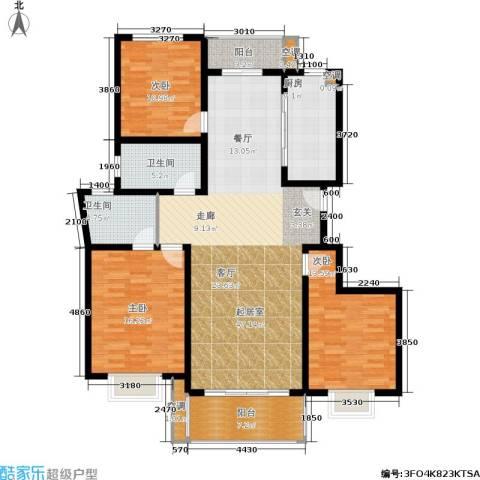 金都名苑3室0厅2卫1厨120.00㎡户型图