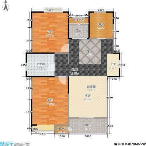 嘉业阳光城2室0厅1卫1厨96.00㎡户型图
