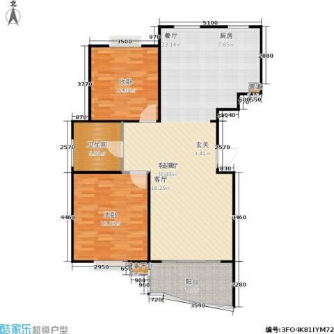 怡景万家2室1厅1卫0厨99.00㎡户型图