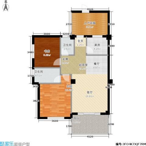 水晶森林2室0厅2卫1厨114.00㎡户型图