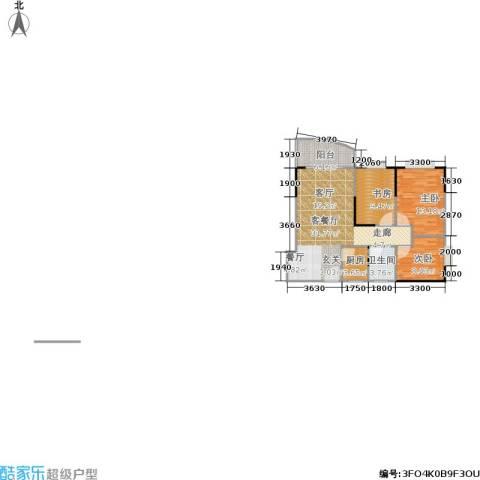 天伦海苑3室1厅1卫1厨77.00㎡户型图