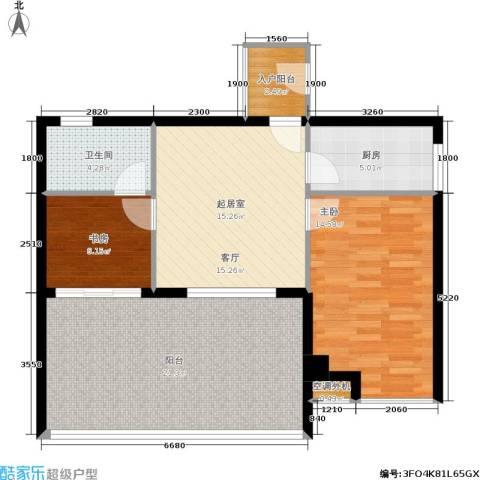 东晖广场2室0厅1卫1厨98.00㎡户型图