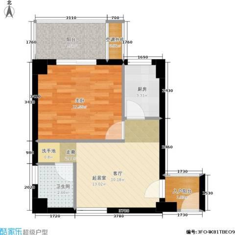 东晖广场1室0厅1卫1厨56.00㎡户型图