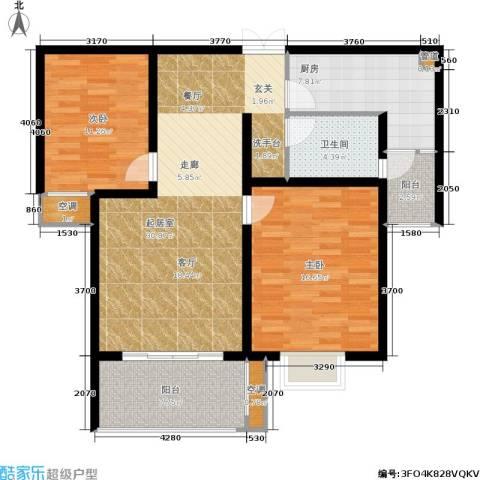 金都名苑2室0厅1卫1厨85.00㎡户型图