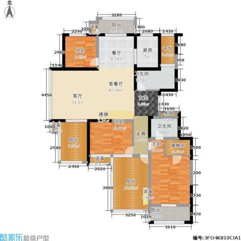嘉业阳光城3室1厅2卫1厨152.00㎡户型图