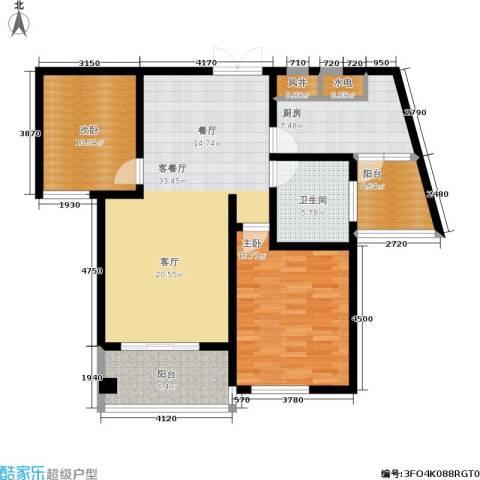 嘉业阳光城2室1厅1卫1厨99.00㎡户型图