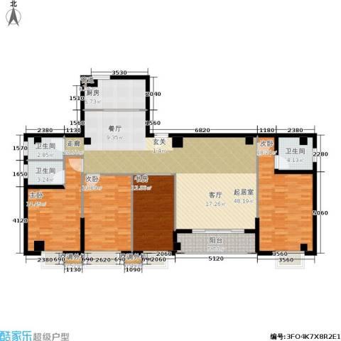 禹洲香槟城4室0厅3卫1厨185.00㎡户型图