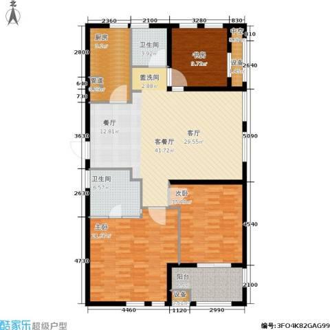 和美城3室1厅2卫1厨130.00㎡户型图