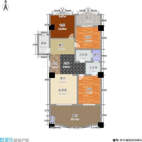 军城・港湾3室0厅2卫1厨147.00㎡户型图