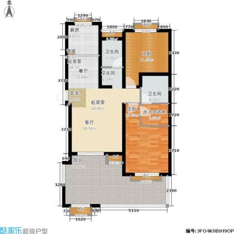 阳光帕提欧2室0厅2卫1厨135.00㎡户型图