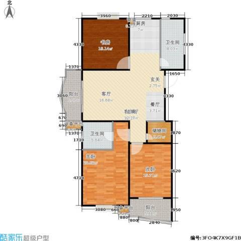 怡景万家3室1厅2卫0厨134.00㎡户型图