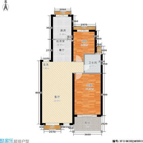阳光帕提欧2室0厅1卫1厨122.00㎡户型图
