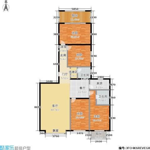 国电中兴嘉园4室0厅2卫1厨192.00㎡户型图