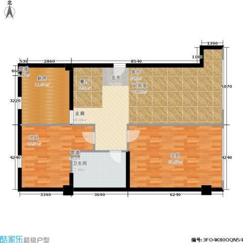 第一上海广场2室0厅1卫1厨109.96㎡户型图