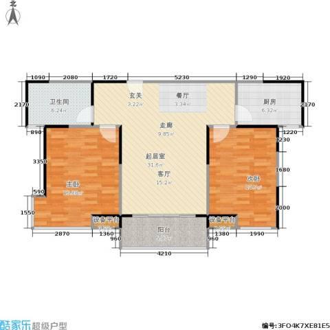 嘉业阳光城2室0厅1卫1厨99.00㎡户型图