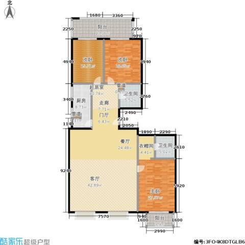 国电中兴嘉园3室0厅2卫1厨195.00㎡户型图