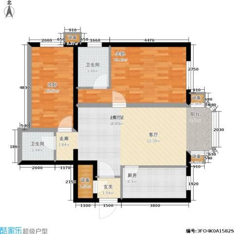 广信嘉园2室0厅2卫1厨101.00㎡户型图