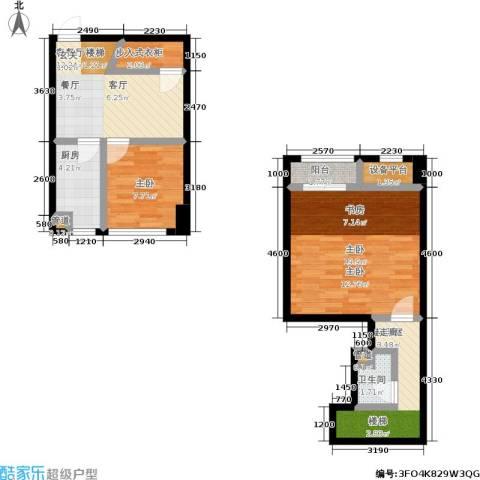 迪赛明天广场2室1厅1卫1厨87.00㎡户型图