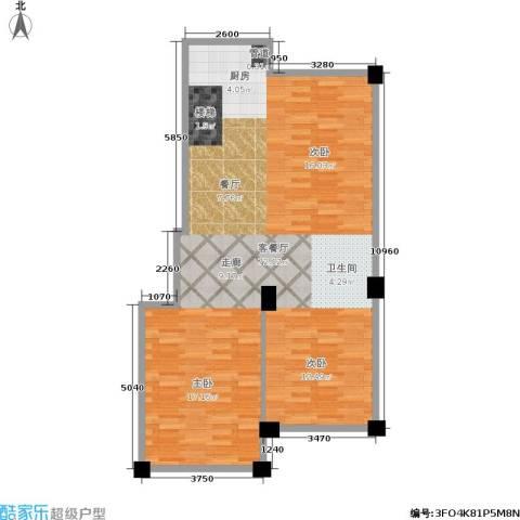 华锦铭苑1厅0卫0厨78.00㎡户型图