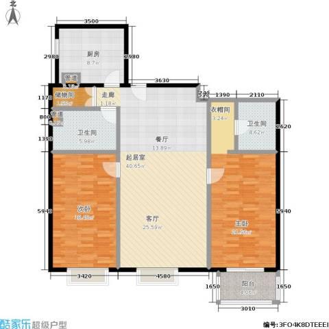 国电中兴嘉园2室0厅2卫1厨120.00㎡户型图