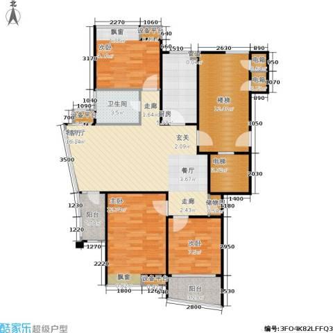 上寓3室1厅1卫1厨99.00㎡户型图