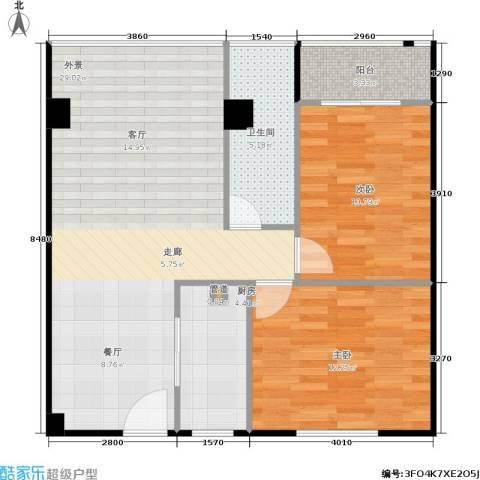 香港公馆2室0厅1卫1厨89.00㎡户型图
