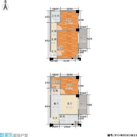 都会993室0厅2卫1厨88.28㎡户型图