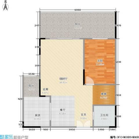 保利高尔夫公馆1室1厅1卫1厨149.00㎡户型图