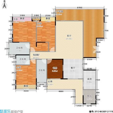 保利高尔夫公馆4室1厅3卫1厨187.95㎡户型图