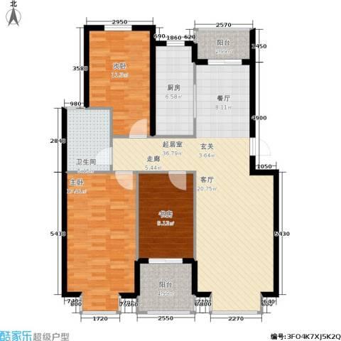 鑫苑城市之家3室0厅1卫1厨102.00㎡户型图