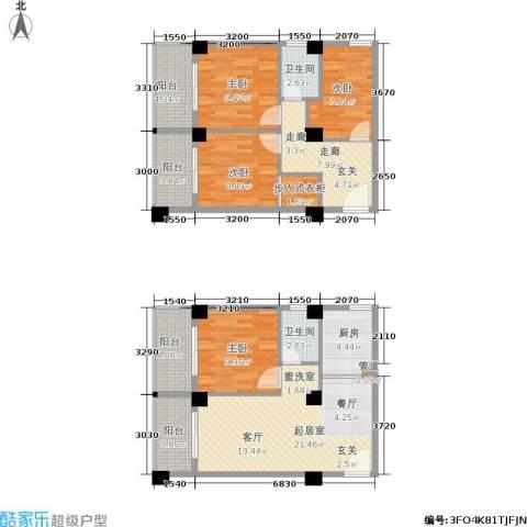 都会994室0厅2卫1厨91.65㎡户型图