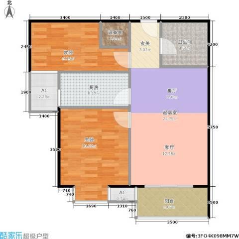 考拉社区2室0厅1卫1厨83.00㎡户型图