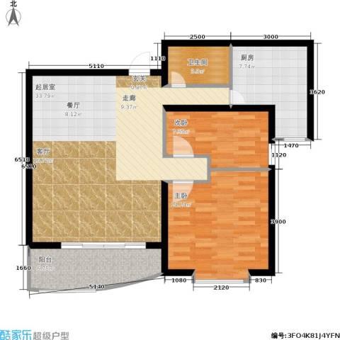 君悦天下2室0厅1卫1厨82.00㎡户型图