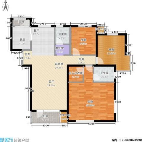 格林春晓3室0厅2卫1厨148.00㎡户型图