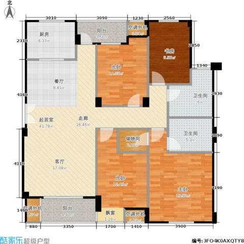 荣安琴湾4室0厅2卫1厨166.00㎡户型图