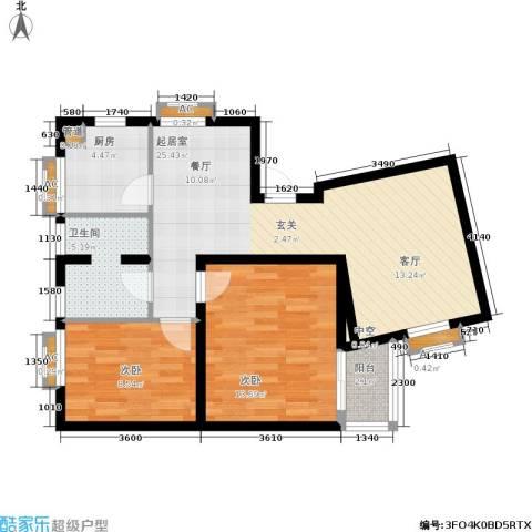 阳光帕提欧2室0厅1卫1厨90.00㎡户型图