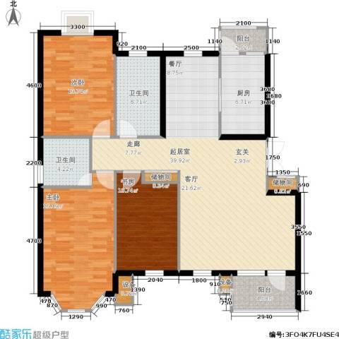 香格里拉3室0厅2卫1厨130.00㎡户型图