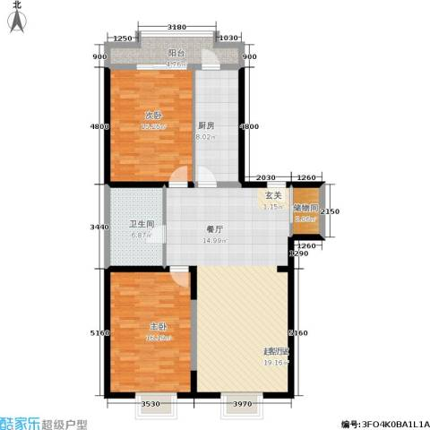 超英天际2室0厅1卫1厨120.00㎡户型图