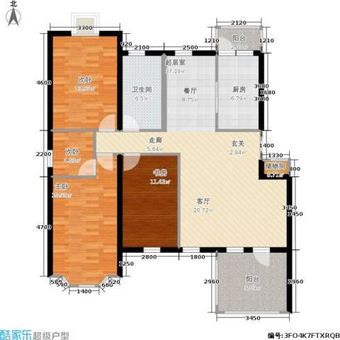 香格里拉4室0厅1卫1厨128.00㎡户型图