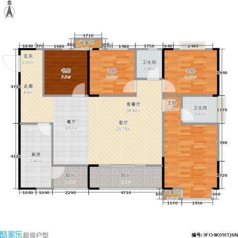 明发尚都国际4室1厅2卫1厨142.00㎡户型图