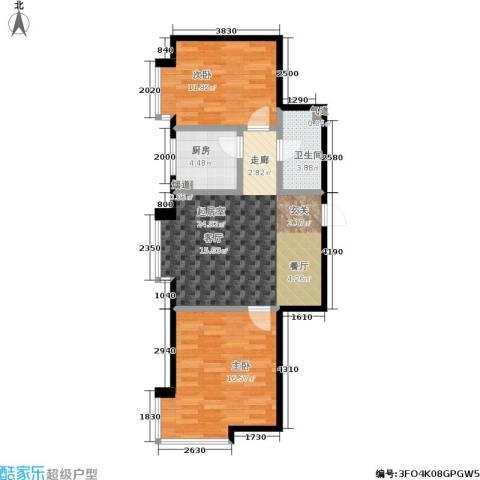 俪华精舍2室0厅1卫1厨87.00㎡户型图