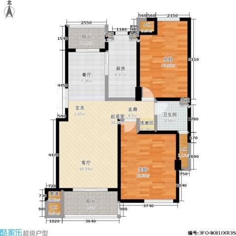 阳光美地2室0厅1卫1厨96.00㎡户型图