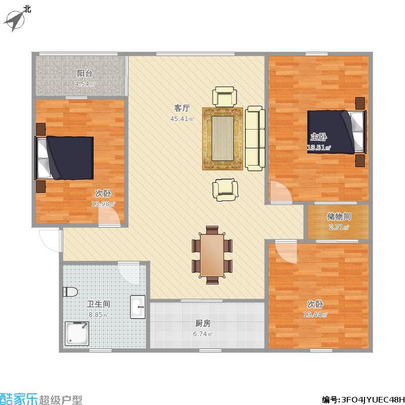 吉祥苑三室110平