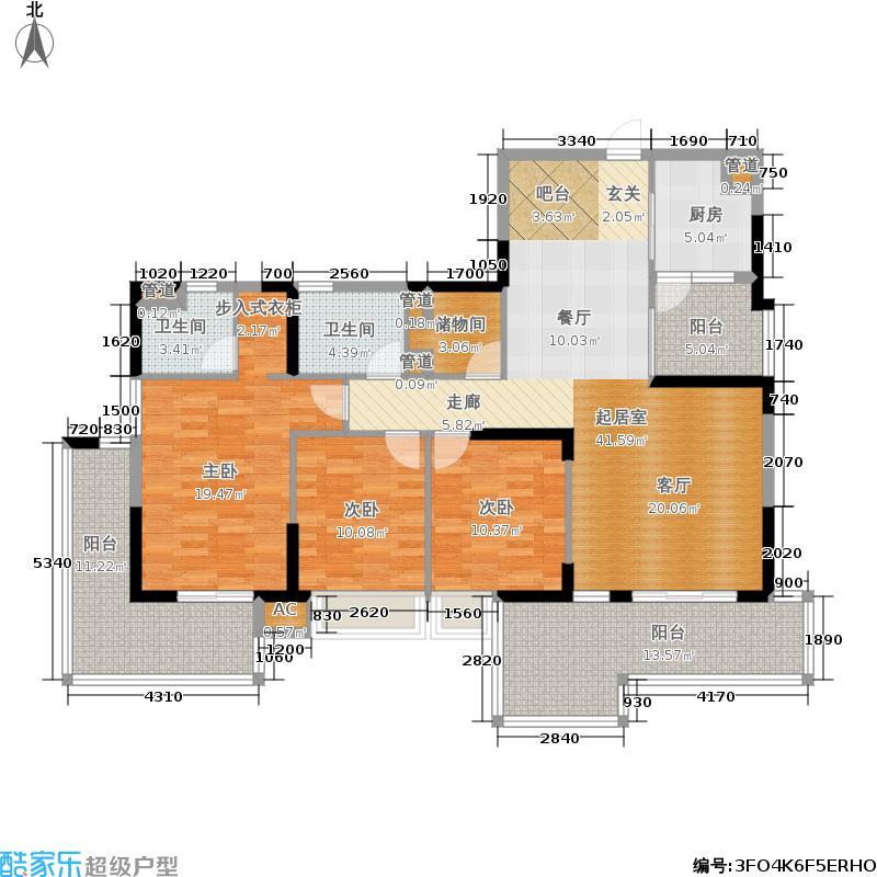 邕江御景157.00㎡邕江御景户型图(1/3张)户型3室2厅1卫