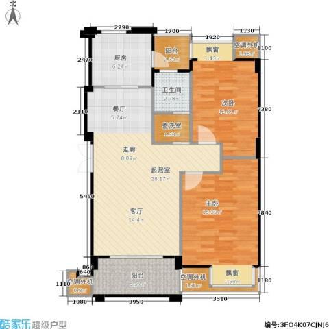 荣安琴湾2室0厅1卫1厨110.00㎡户型图