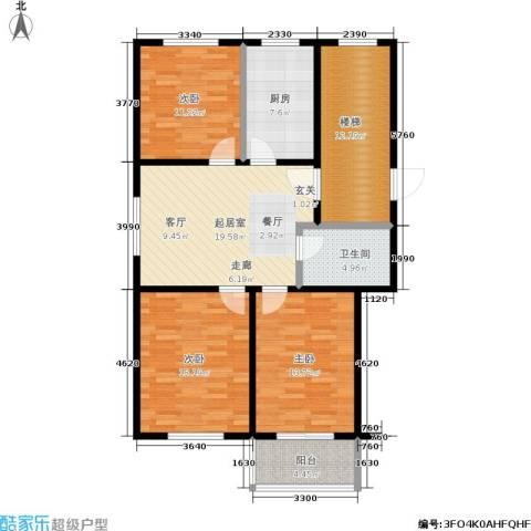 东盛园3室0厅1卫1厨100.00㎡户型图