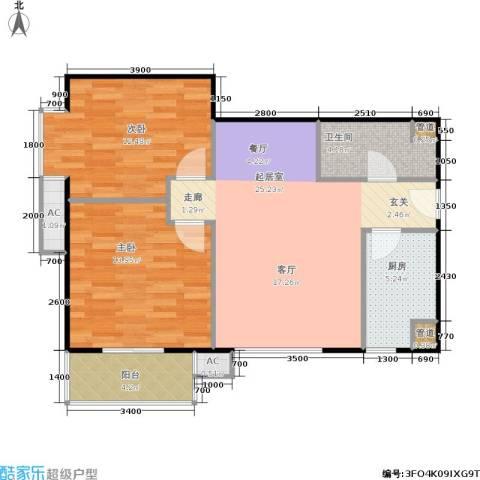 考拉社区2室0厅1卫1厨91.00㎡户型图