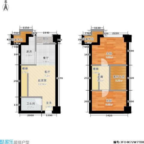 金达利21码头2室0厅1卫1厨50.00㎡户型图