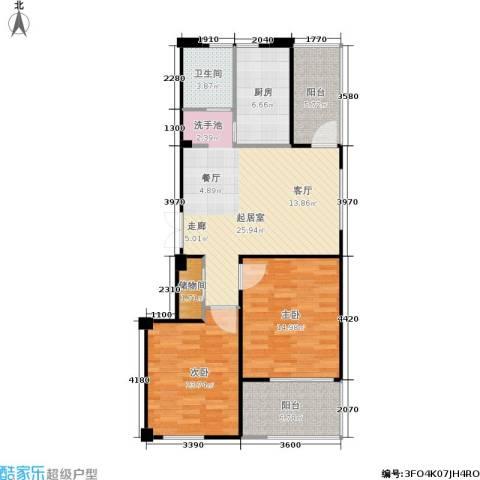 荣安琴湾2室0厅1卫1厨108.00㎡户型图